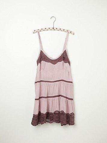 Free People Viscose Voile Tiered Babydoll Cami
