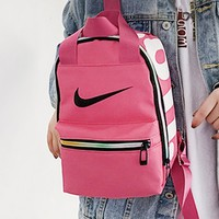 NIKE fashion casual lady shopping bag is a hot selling monogrammed printed shoulder bag Rose Red