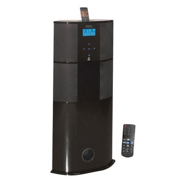 Pyle 600 Watt Digital 2.1 Channel Home Theater Tower w/ iPod Docking Station - Piano Wood Finish