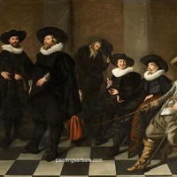 Abraham de Vries Regents of the Amsterdam City Orphanage painting for sale online, painting - $95.00
