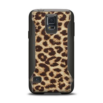 The Simple Vector Cheetah Print Samsung Galaxy S5 Otterbox Commuter Case Skin Set