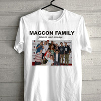 magcon boys,forever and always Screen print Funny shirt for t shirt mens and t shirt girl size s, m, l, xl, xxl