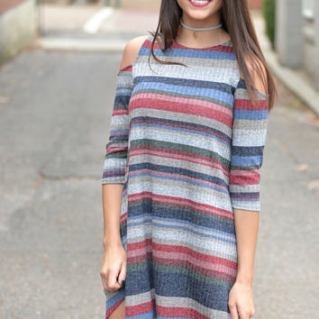 All Your Love Stripe Tunic Dress
