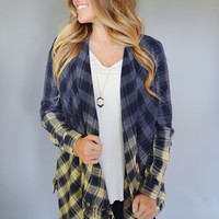 Sunrise Ombre Plaid Cardigan