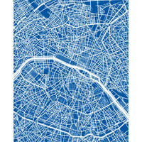 Paris, France Map - Choose your color and size