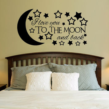 Love You To The Moon And Back Wall Art shop love you to the moon and back wall art on wanelo