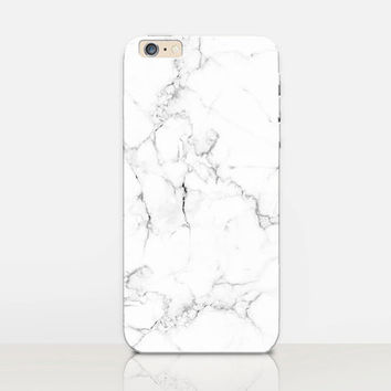 White Marble Phone Case  - iPhone 6 Case - iPhone 5 Case - iPhone 4 Case - Samsung S4 Case - iPhone 5C - Tough Case - Matte Case