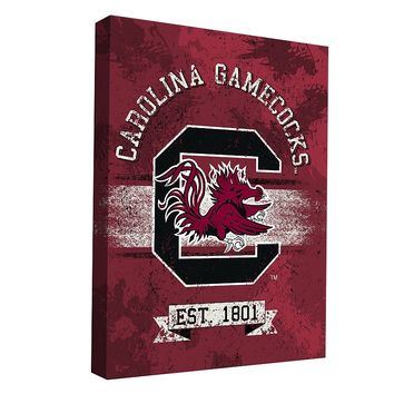 South Carolina Gamecocks Banner Design 36'' x 24'' Canvas Wall Art (Scr Team)