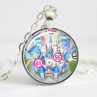 Cinderella's Castle Necklace from Walt Disney World Magic Kingdom Park Map