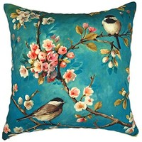 Buy YOUR SMILE Oil Painting Cherry Blossoms Decorative Throw Pillows Case Cushion Covers Shell Cotton Linen Blend... by Shopsexactly on Dot & Bo