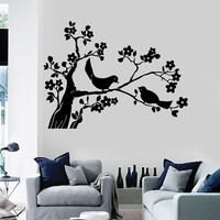 Wall Stickers Vinyl Decal Birds Tree Branches Home Art Decor Unique Gift (ig110)