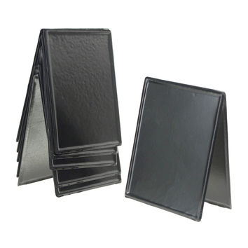 Superieur Metal Chalkboard Sign Table Stand, Black, 4 Inch, 6 Piece