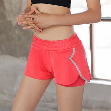 Yoga Shorts Novel ideas 2018 Summer Mesh Breathable Ladie Girl Short Pants for Running Athletic Sport Fitness Clothes Jogging