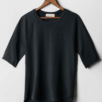 imogene + willie · faded black knit raglan