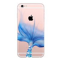 Mermaid Case Silicone Fish Tail Cover iPhone 7 6 6s Plus + Free Gift Box