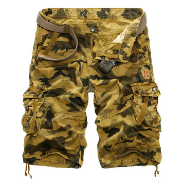 Summer Camouflage With Pocket Pants Shorts [6541436035]