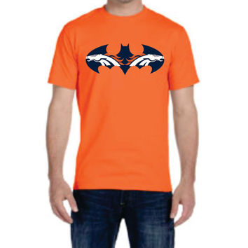 Bat Broncos Mens Ladies T-shirt Denver Colorado  nfl  football Super Hero