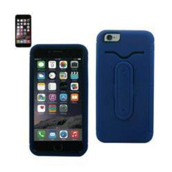 REIKO IPHONE 6 PLUS HYBRID HEAVY DUTY CASE WITH BENDING KICKSTAND IN NAVY