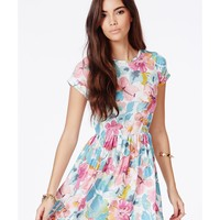 Missguided - Gajra Skater Dress In Floral Print