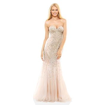 Terani Couture Strapless Beaded and Tulle Prom Gown | Overstock.com Shopping - The Best Deals on Prom Dresses