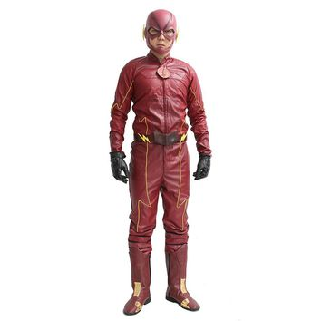 Xcoser The Flash Costume Red PU Outfit Cosplay Costume