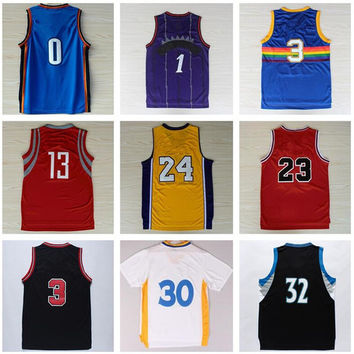 Man Cheap Basketball Jerseys Throwback Classic Current Sport Shirt Wear Men With Team Player Name Size S-XXXL Camiseta de baloncesto