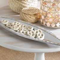 Mother Of Pearl Mosaic Oblong Accent Dish