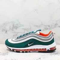 Nike Air Max 97 Miami Hurricanes Rainforest/white-team Orange-black Running Shoes - Best Deal Online