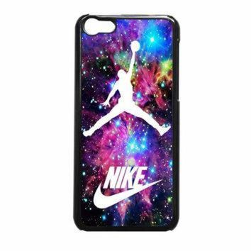 CREYUG7 Michael Jordan On Galaxy Nebula New Custom iPhone 5c Case