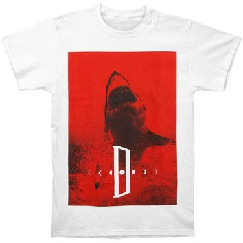 Dayseeker Men's  Shark T-shirt White Rockabilia