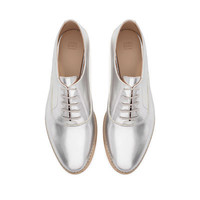 PATENT BLUCHER - Shoes - Woman - New collection | ZARA United Kingdom