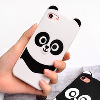 Cute kungfu Panda case for iphone 7 7plus cartoon soft silicon case for iphone 6 6plus 6s 6splus protective funda -0402