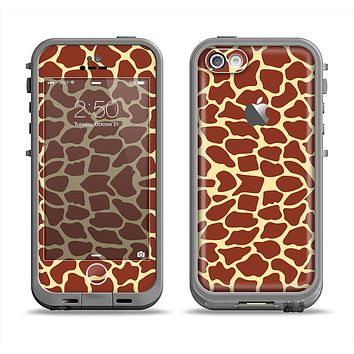 The Simple Vector Giraffe Print Apple iPhone 5c LifeProof Fre Case Skin Set