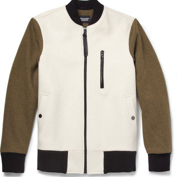 Christopher Raeburn - Contrast-Sleeve Merino Wool Bomber Jacket | MR PORTER