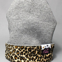 1st Class Leopard Front Patch BeanieGray : Karmaloop.com - Global Concrete Culture