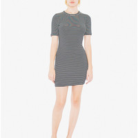 9x1 Rib Short Sleeve Crewneck Mini Dress | American Apparel