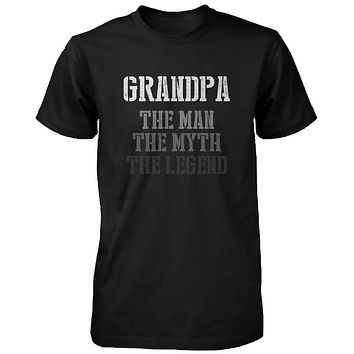 The Man Myth Legend Cute Shirt for Grandpa Christmas Gift for Grandfather
