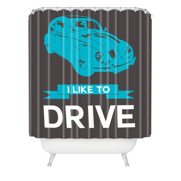 Naxart I Like To Drive Beetle 3 Shower Curtain