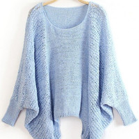 Dolman Sleeve Knitted Sweater
