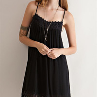 Solid Baby Doll Dress - Black