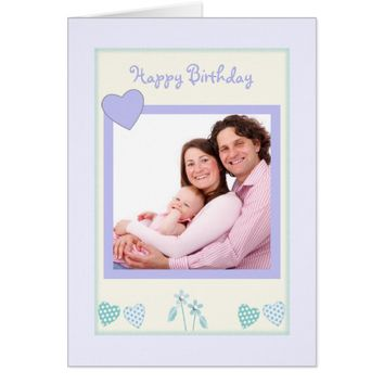 Photo Birthday Card lilac