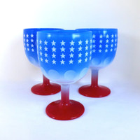 USA Beer Mugs Thumbprint Glasses Goblets