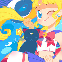 Sailor Moon by Bunny Art Print by Pamela Barbieri
