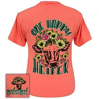 Girlie Girl Originals Preppy One Happy Heifer T-Shirt