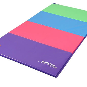 Tumbl Trak Folding Gymnastics Mat 4ft x 8ft Bright Pastel 4 ft x 8 ft x 2 in