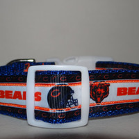 NFL  inspired *Chicago Bears* Adjustable Dog collar OR Martingale collar