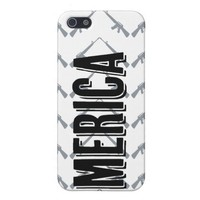 Merica iPhone 5 case with gun chevron pattern from Zazzle.com