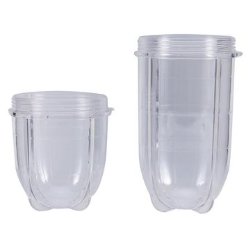 1pc Tall & Short Cup Mug Replacement Parts for 250W Magic Bullet Blender Juicer Transparent