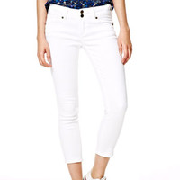 Jayden Cropped Mid-Rise Skinny Jeans in White