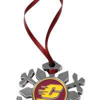 Central Michigan Chippewas-Snow Flake Ornament